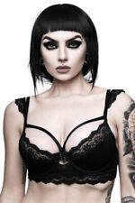 Killstar BH-Top Bordello-schwarz-Spitze-Gothic