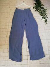 Pomodorot Kaleidoscope Size 10 Denim Blue Coloured Wide Leg Trousers BNWT