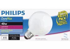 Phillips 169045 40 Watt G25 Duramax Globe 3 Count, Pack 3, Part 169474