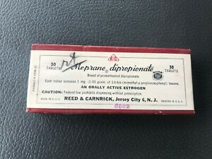 Early Antique Medicine Pills in package. Estrogenic Supplement. Reed & Carnrick.