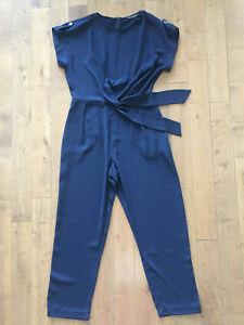 BN  ZARA  Basic Navy Playsuit Jumpsuit Size M