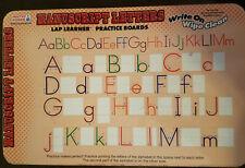 Lap Learner Dry Erase Practice Board Manuscript Letters, Wipe Off - $ REDUCED