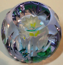 Caithness White Narcissus Paperweight 1997 Ltd Ed. Cert. Boxed Helen MacDonald