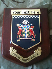 Thames Valley Police Force Personalised Military Wall Plaque UK Made For MOD