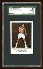 POP 3 SGC 8 CASSIUS CLAY 1973-74 PANINI #290  VERY RARE  ONLY 1 GRADES HIGHER