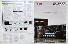 Original Color 8 Sided Brochure for the ICOM IC-7600 HF 6 METER TRANSCEIVER