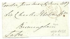 1837  RARE CROWN FREE L800b FRONTWITH LARGE RED CODE E - LONDON TO BIRMINGHAM