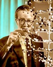 "MAURICE WILKINS PHYSICIST BIOLOGIST X-RAY DNA 8x10"" HAND COLOR TINTED PHOTOGRAPH"