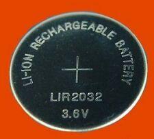 Battery Rechargeable Button Cell Coin LIR2032 LIR 2032 3.6V CR2032