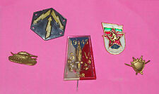 WWII BULGARIA COCKADE UNIFORM PIN INSIGNIA TANK SHIELD 1945 5V SNR DAGGER RADIO