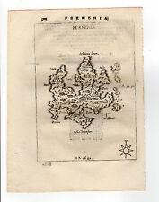 GREECE PIACENZA 1688 MAP OF THERMIA KYTHNOS FERMENIA