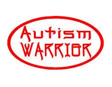 "AUTISM WARRIOR VINYL DECAL RED 4X7"" AUTISM AWARENESS CHILD KIDS GIFT LOVE"