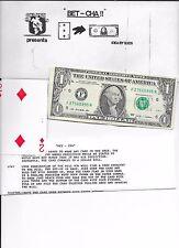 "CARD TO DOLLAR BILL MAGIC TRICK BUMPER PRESENTS ""BET-CHA!!"""