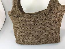 The Sak Brown Crochet Shoulder Bag Handbag Purse