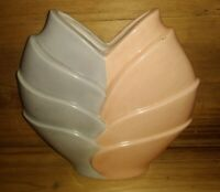 Vintage 1980s Delta Pottery Ceramic Art Deco Inspired Vase