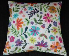 Kissenbezug, Kissenhülle 40x40 cm, poppige Blumen, Dekokissen, Handarbeit, neu
