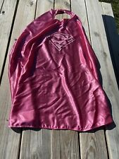 Girl's Supergirl Pink Cape Superman Logo One Size Fits All