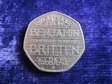 100th Anniversary of the birth of Benjamin Britten 50p -2013 Circulated Coin