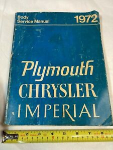 1972 PLYMOUTH CHRYSLER Body Service MANUAL OEM Cuda Duster 340 Roadrunner