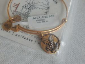 Gold Tone Alex and Ani Holly Bracelet NIP