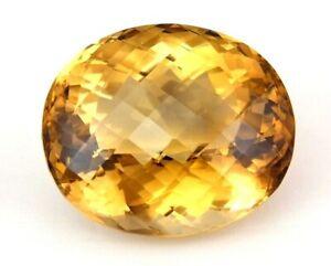 TOP GIANT CITRINE : 264,65 Ct Natürlicher Bahia Citrin Braun Gelb aus Brasilien