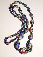 ART Deco VENEZIANA perline di vetro di Murano Murrina Collana.