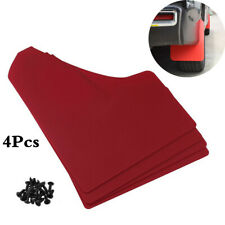 Car Accessories 4Pcs Red Mud Flap Flaps Splash Guard Mudguards For  Front Rear