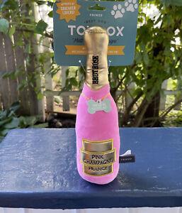 Fringe ~ Brut Rose Champagne ~ Squeaky Plush Dog Toy