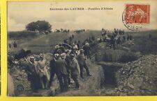 cpa FRANCE Cachet GARE des LAUMES en 1914 (Côtes d'Or) FOUILLES d'ALÉSIA Animés