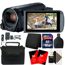 Canon VIXIA HF R800 HD Camcorder (Black) + 16GB Memory Card + Cleaning Kit