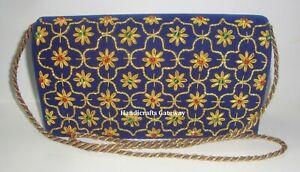Exclusive Handmade Embroidery Party Purse, Embroidery Purse For Wedding