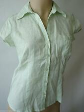 Linen Short Sleeve Fitted Petite Tops & Shirts for Women