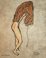 Gustav Klimt nach rechts stehender Akt weiblich Nude Frau Repro Gabriele Sauler