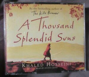 A Thousand Splendid Suns, Khaled Husseini, audio book 4 CD s