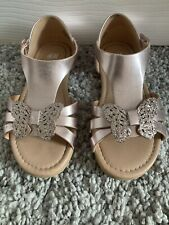 Girls Sandals Size 11 H&M Rose Gold Glitter Butterfly Worn Once