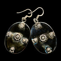 """Floral Pattern 925 Sterling Silver Earringss 1 3/4"""" Ana Co Jewelry E400376F"""