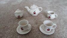 Vintage Red Apples Child's 9 Piece Miniature Tea Set