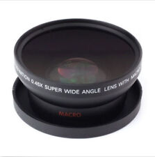 0.45x 62mm Wide Angle + Macro Conversion Lens For All 62mm Camera Lens Filter