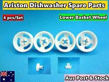 Ariston Dishwasher Spare Parts Lower Basket Wheel Replacement 4pc/set white D28