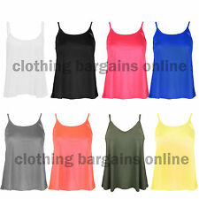 Unbranded Women's Waist Length Vest Top, Strappy, Cami Tops & Shirts