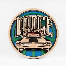 Dodge 3D Wall Clock Car Art Gift For Christmas Dodge Challenger Wooden Clock