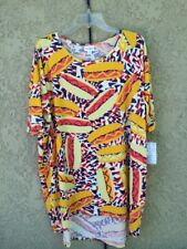 LuLaRoe Irma Shirt XL Multi-Color Soft Material Short Sleeve NWT