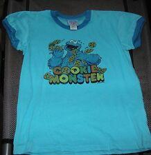 Junk Food Cookie Monster 2004 Sesame Workshop Kids Unisex Sz XL T- Shirt Graphic