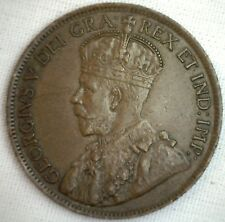 1919 Copper Canadian Large Cent Coin 1-Cent Canada BN #5