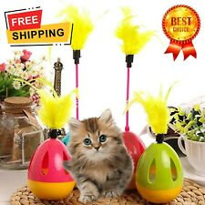 Cat Ball Feather Toy Interactive Cat Teaser & Automatic Spinning Tumbler