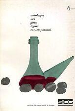 ANTOLOGIA DEI POETI LIGURI CONTEMPORANEI 6, 1963 Novaro Sbarbaro Barile Montale