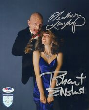 ROBERT ENGLUND Freddy Krueger & HEATHER LANGENKAMP 8x10 Photo PSA/DNA #Y93384