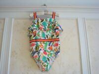 NWT Janie And Jack Girls Tropical Ruffle Swimsuit  6