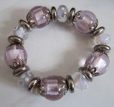 Armband,rosa,Glas,Perlen,Kunststoff,Schmuck,Mode,Gummizug,Arm,Neu,Weihnachten