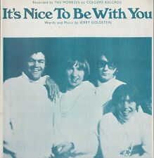 SHEET MUSIC  //  THE MONKEES  --  IT'S NICE TO BE WITH YOU  //  LIGHT  BLUE